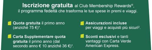 Iscrizione gratuita al Club Membership Rewards®
